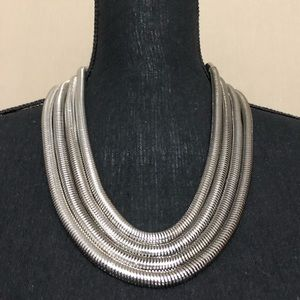 White Gold Tone Adjustable Necklace